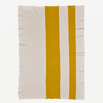 Down & Turmeric Vary Stripe Throw  by Shepherd England