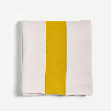 Down & Turmeric Vary Stripe Throw