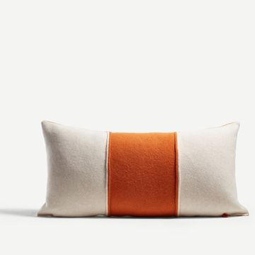 Sienna & White Striped Blok Cushion by Shepherd England