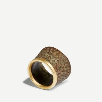 Gold Edged Thimble Ring