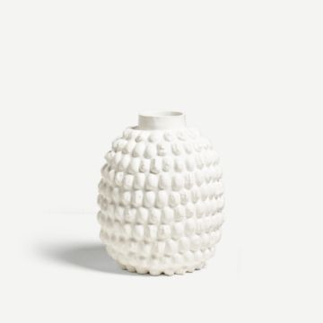Large Guardian Vessel White by Camilla Bliss