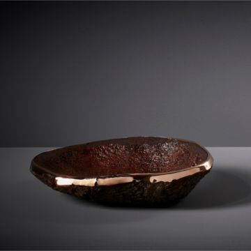 The Urushi (with Rose Gold & Copper) Cork Vessel by Pedro Da Costa Felgueiras