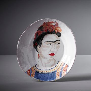 Frida Kahlo Illustrated Plate by Agalis Manessi