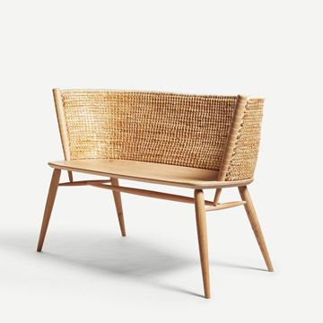 Brodgar Straw Back Bench (Without Drawers) by Gareth Neal and Kevin Gauld