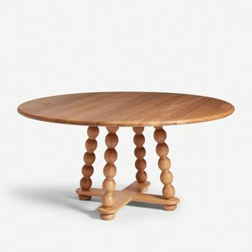 Bobbin Dining Table in Natural Oak by Alfred Newall