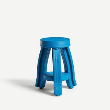 Tiered Side Table in Blue