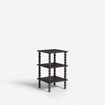 Bobbin Side Table in Ebonised Oak