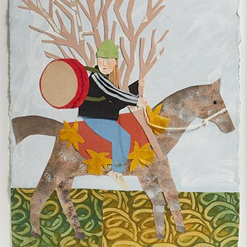 Drummer on a Horse Collage