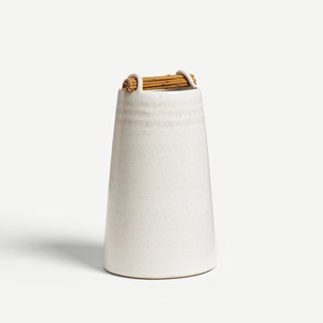 Chalk White Willow Weft Vessel XV