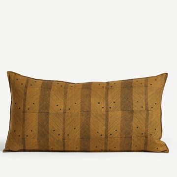 Call Line Cushion in Mustard