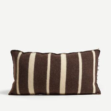 St. Ishmael Rectangular Cushion in Dark Chocolate