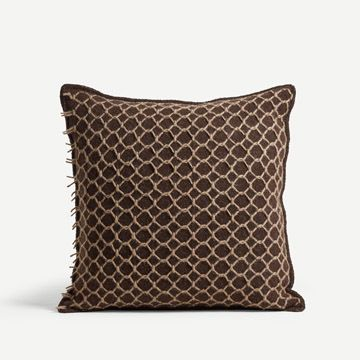 St. Ishmael Square Cushion in Dark Chocolate