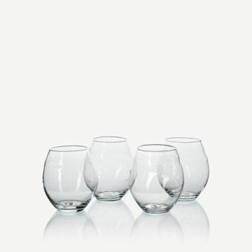 Roundy Tumblers in Clear (Set 4)