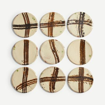 Slipware Plate Collection I by Dylan Bowen