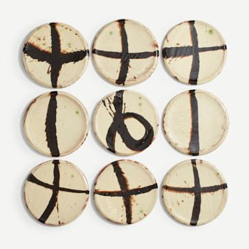 Slipware Plate Collection II by Dylan Bowen