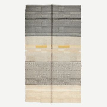 'Yellow Stripe' Handwoven Alpaca Throw by Catarina Riccabona