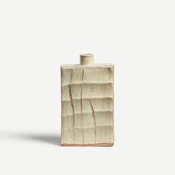 Wood Ash Faceted Flask III by Adam Ross
