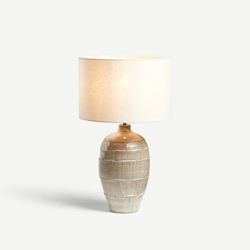 Faceted Table Lamp in Cream (Medium)