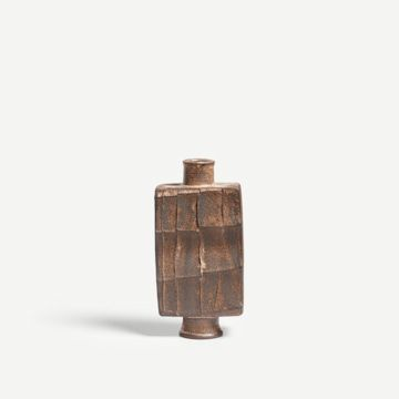 Dry Rutile Faceted Flask V