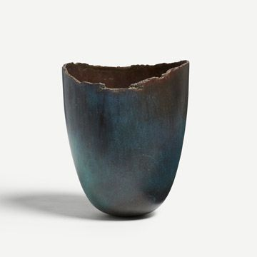 Bronze Cast Limewood Vessel