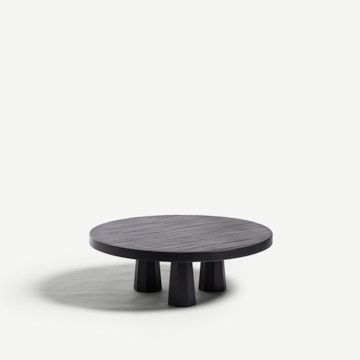 Travished Coffee Table in Pitch Black by Bibbings & Hensby