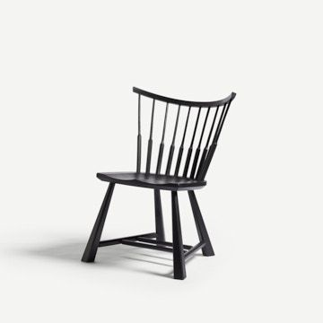 Spindle Back Occasional Chair in Pitch Black by Bibbings & Hensby
