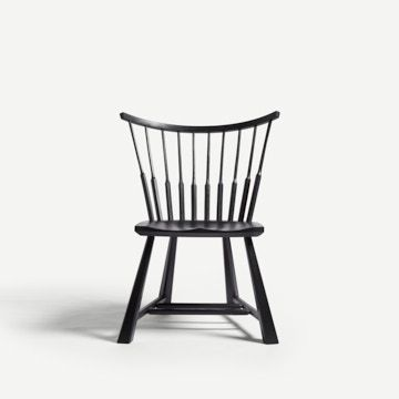 Spindle Back Occasional Chair in Pitch Black