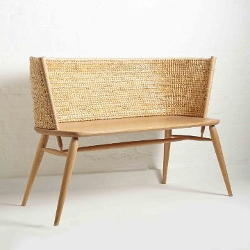 Brodgar Straw Back Bench by Gareth Neal and Kevin Gauld