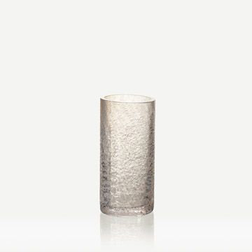Grey and White Glass Cylinder (Small)