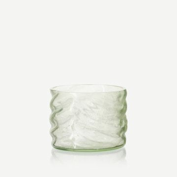 Glass Cylinder in Pale Green