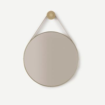 Bloom Etched Mirror (Round)