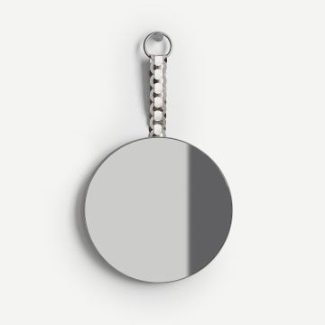 Braid Pendant Mirror (Dove Grey, Cream & Platinum)