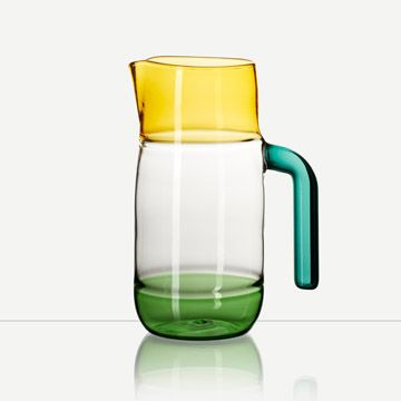 Incalmo Jug in Amber, Green and Teal by Jochen Holz