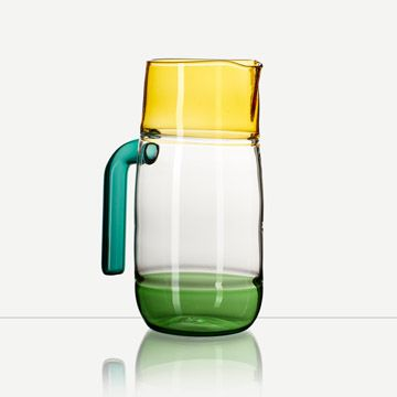 Incalmo Jug in Amber, Green and Teal