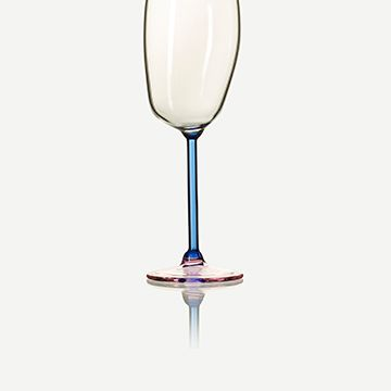 Incalmo Champagne Flute (Blue and Pink)