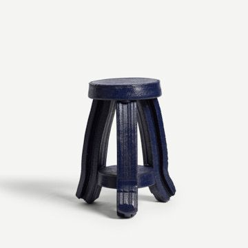 Tiered Side Table in Navy