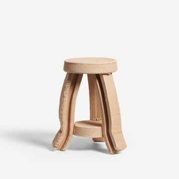 Tiered Side Table in Raw