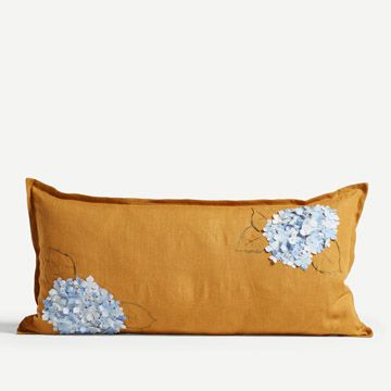 Turmeric Hydrangea Cushion (Large)