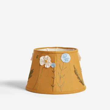 Turmeric Poppy and Cornflower Lampshade