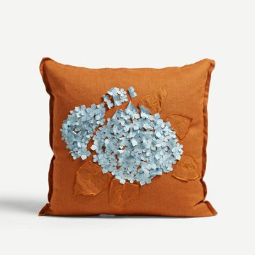 Hydrangea Square Cushion