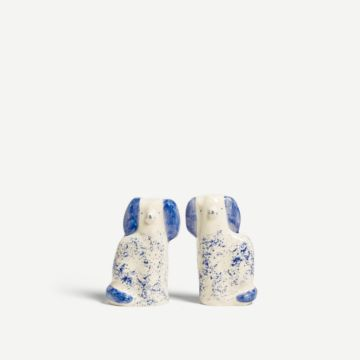 Blue Speckled Staffordshire Dogs (Small) by Alex Sickling