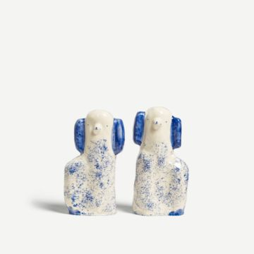 Blue Speckled Staffordshire Dogs (Large) by Alex Sickling