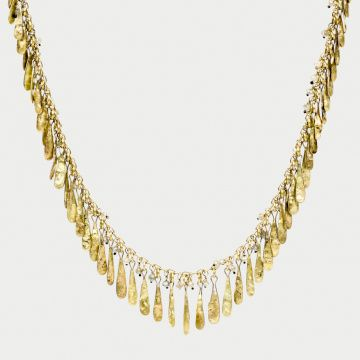 Gold Drop Necklace by Lucie Gledhill