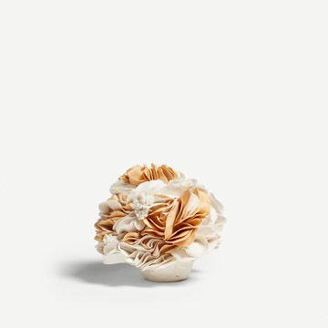 White and Yellow Bloom Sculpture (Small) II