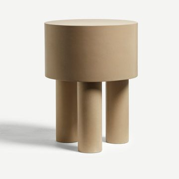 Pilotis Side Table (3 Legs) (Clay)