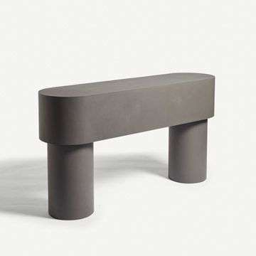 Pilotis Console Table (Flint)