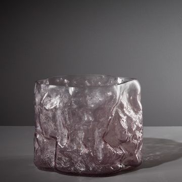 Metameric Glass Cylinder with Kaolin Patina (Wisteria)