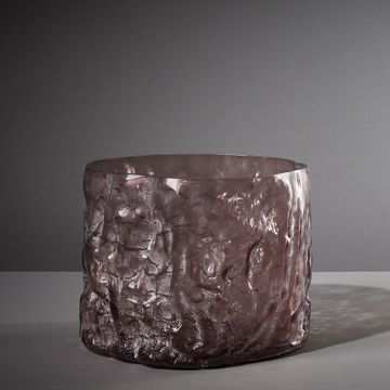 Metameric Glass Cylinder with Kaolin Patina (Mauve) by The New Craftsmen