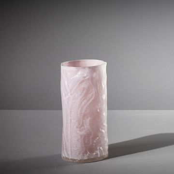Metameric Tall Glass Cylinder with Kaolin Patina (Opaque Lilac) by The New Craftsmen