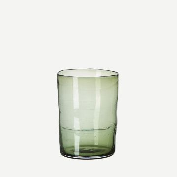 Hand-Blown Juice Glass (Single) (Tourmaline) by Michael Ruh